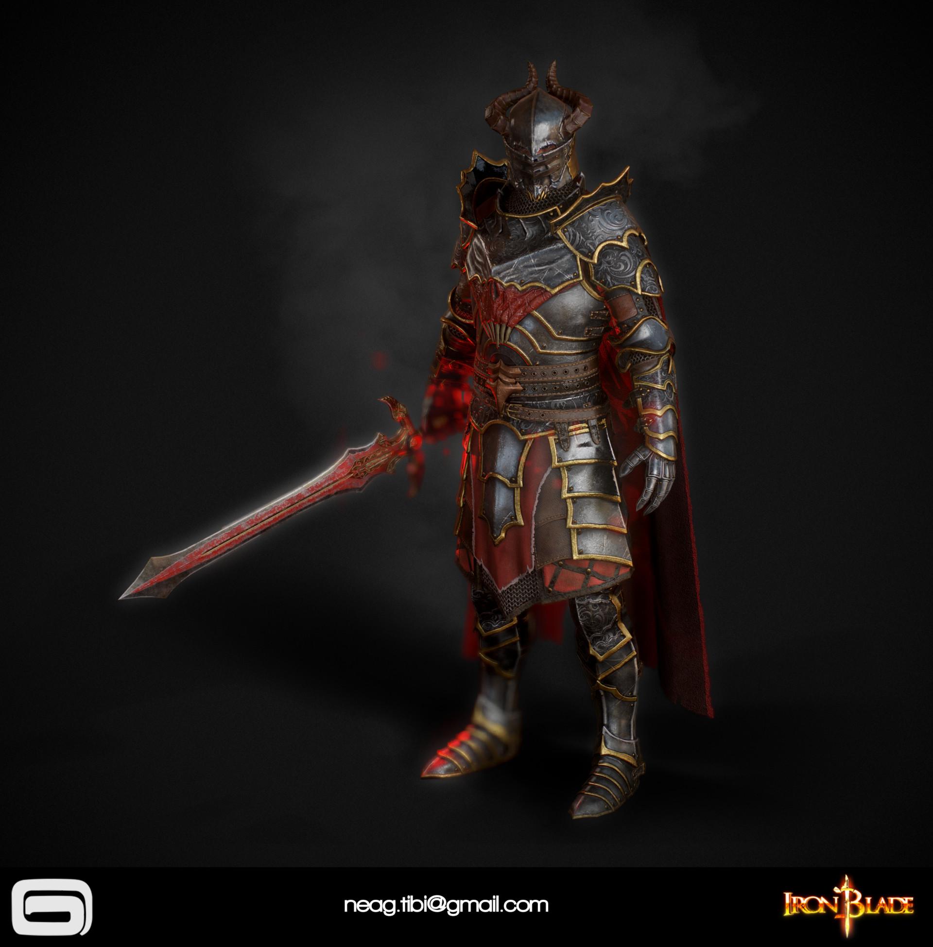 Tibi neag tibi neag iron blade mc armor 10c low poly 11