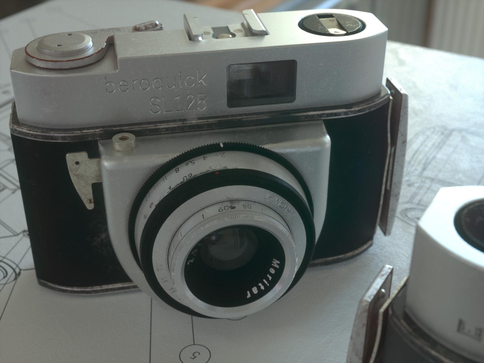 Nurbs Modeling - Vintage Camera Beroquick SL125