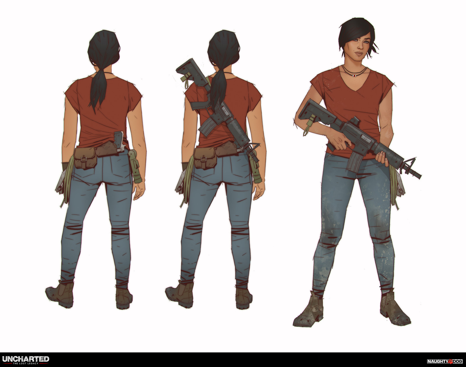 Chloe Frazer - final costume concept before starting the scanning process.