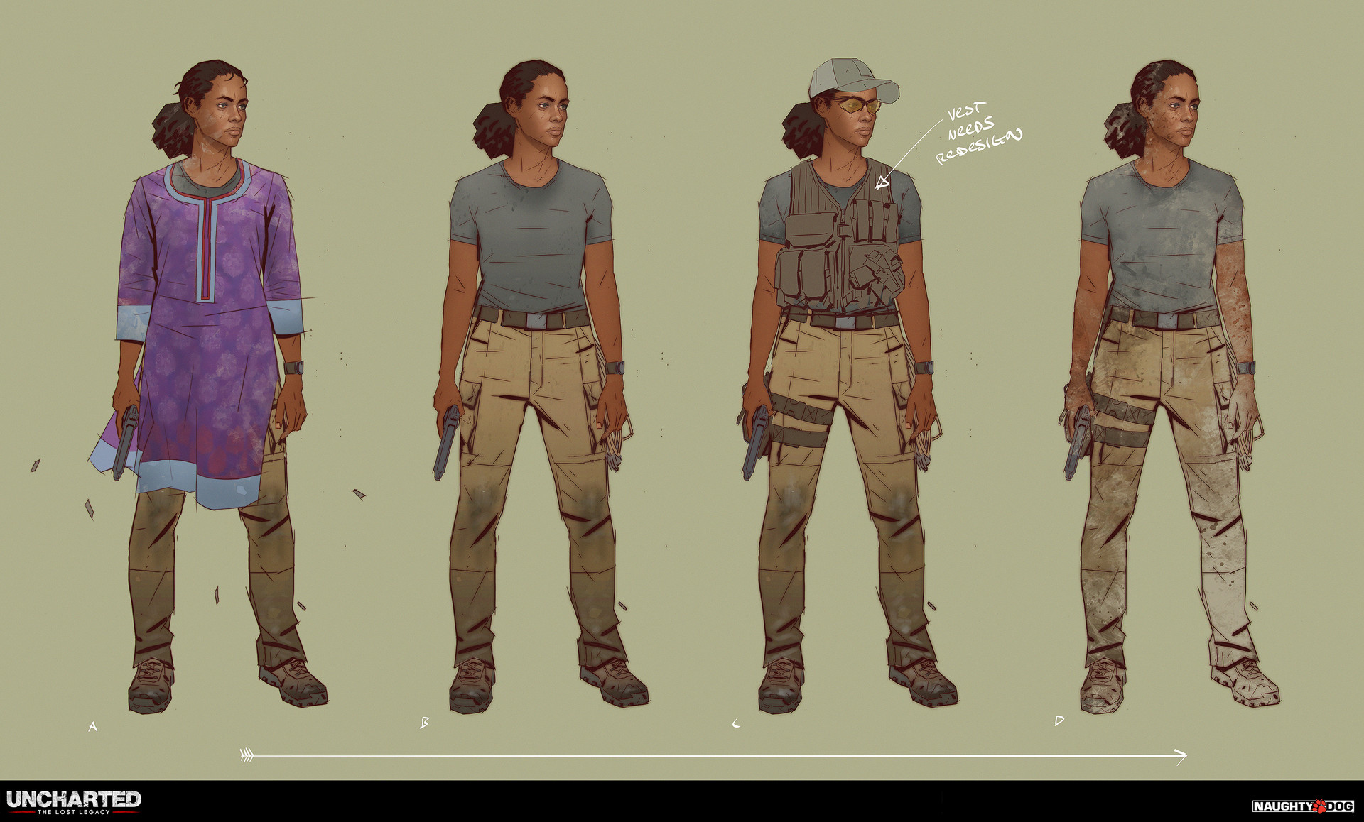 Artstation Uncharted The Lost Legacy Character Concept Art