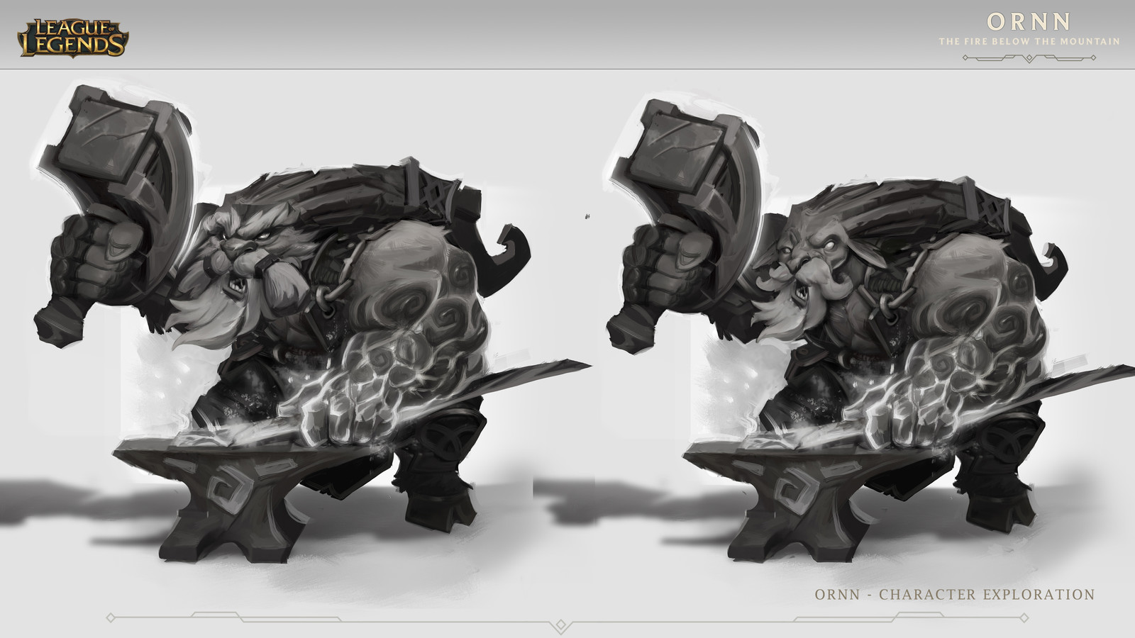 "Ornn ""The Fire below the mountain"" - Concept Art- League of Legends"