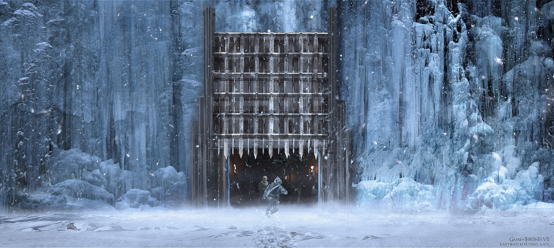 Gendry gets back to the wall, (in record time!) concept for the gate