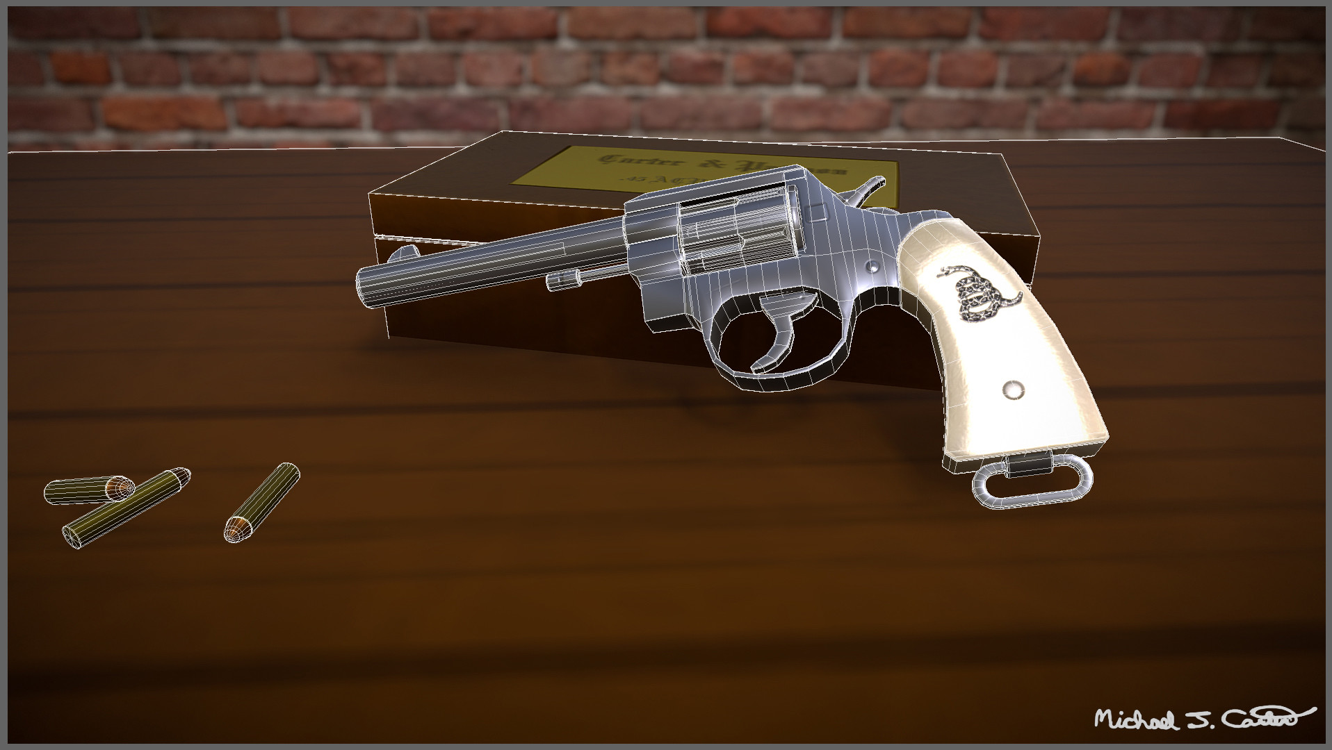 Michael jake carter mcarter revolver wireframe view