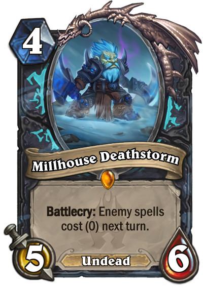 Millhouse Deathstorm Legendary Card