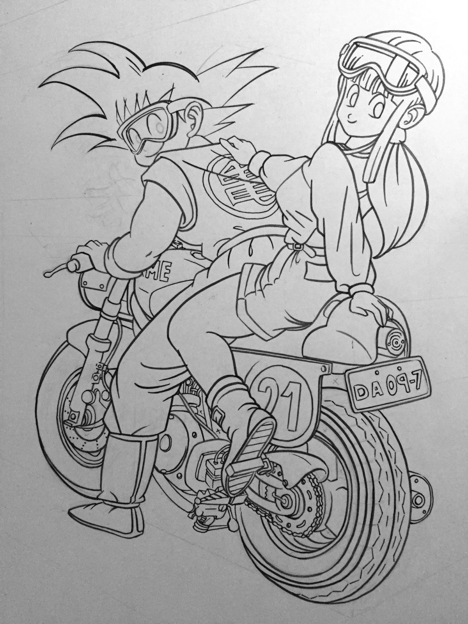 Continuing with Goku until the inks are finished.