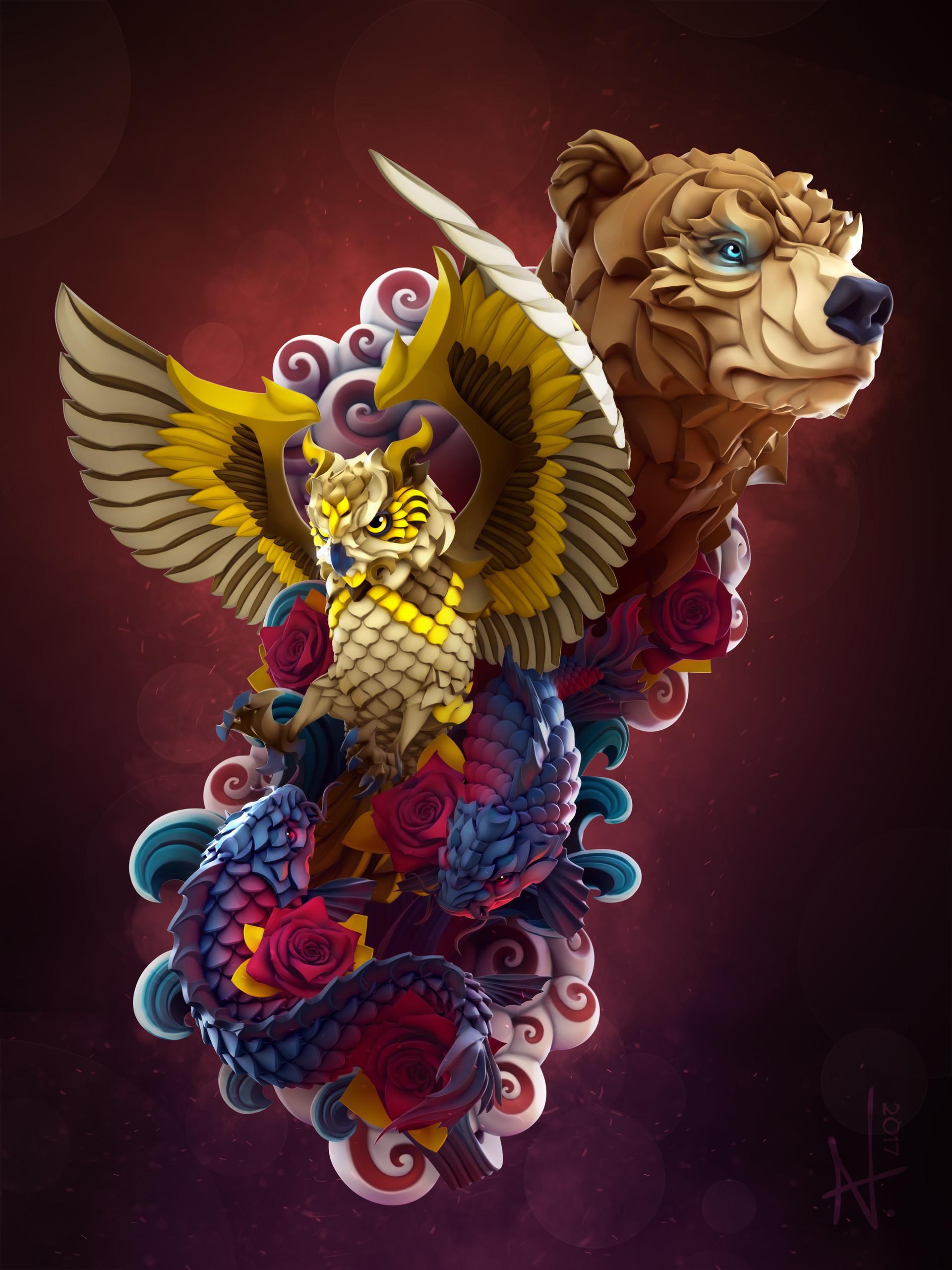 Wildlife Tattoo Design