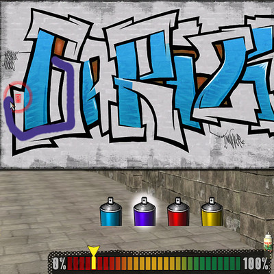 Tom miller minigame graffiti