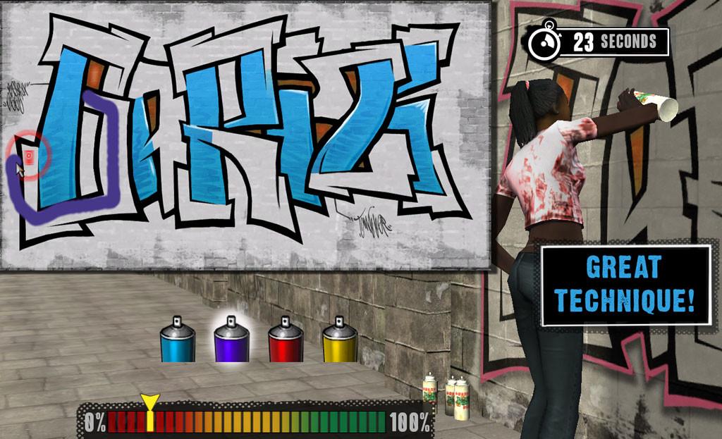 Graffiti minigame