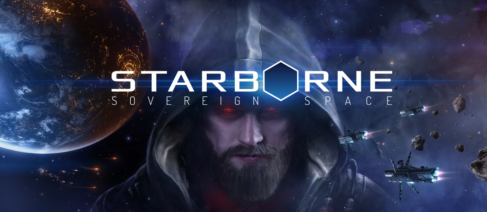 Cover image for the Starborne website with logo