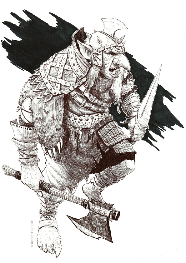 Giuseppe de iure giuseppedeiure ink sketch orc3