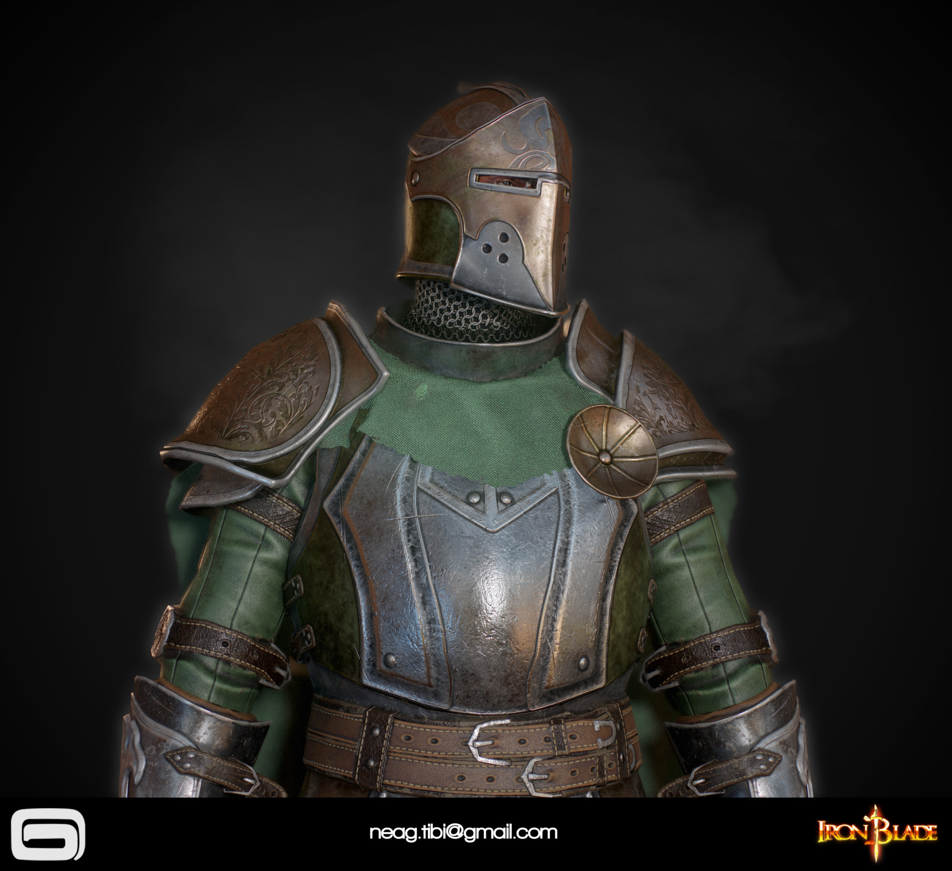 Tibi neag tibi neag iron blade mc armor 14a low poly 06