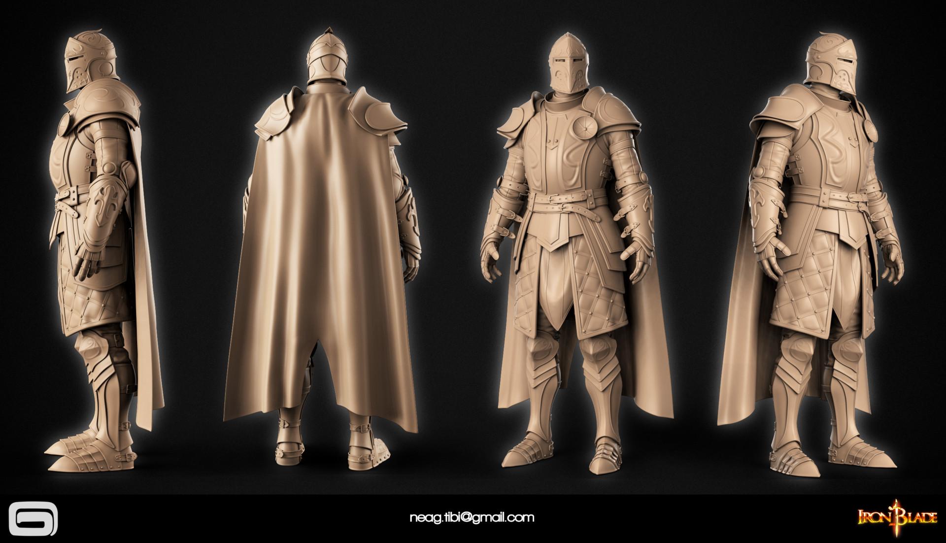 Tibi neag tibi neag iron blade mc armor 14b high poly