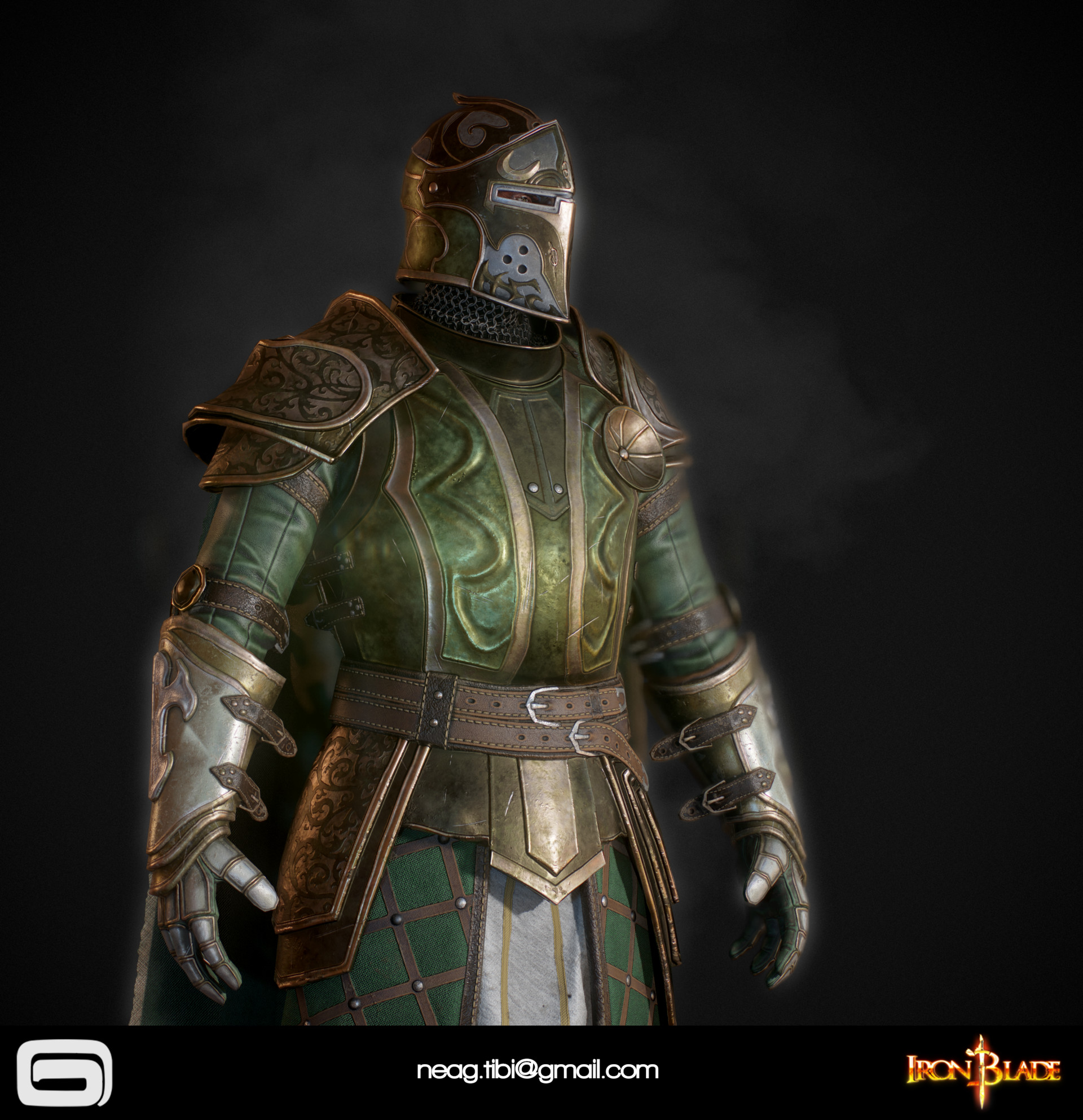 Tibi neag tibi neag iron blade mc armor 14b low poly 02