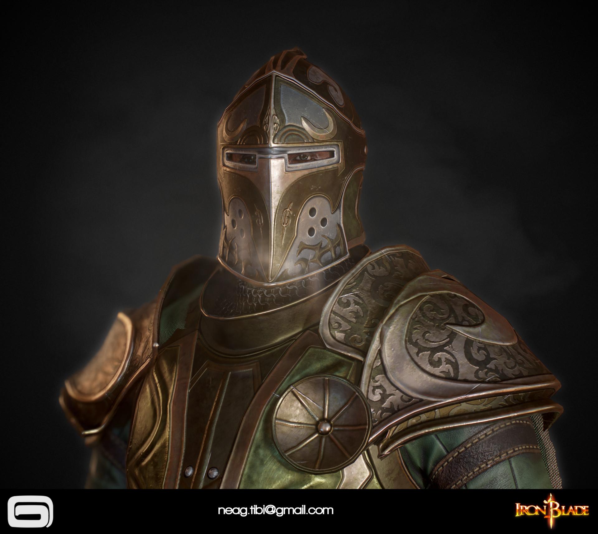 Tibi neag tibi neag iron blade mc armor 14b low poly 03