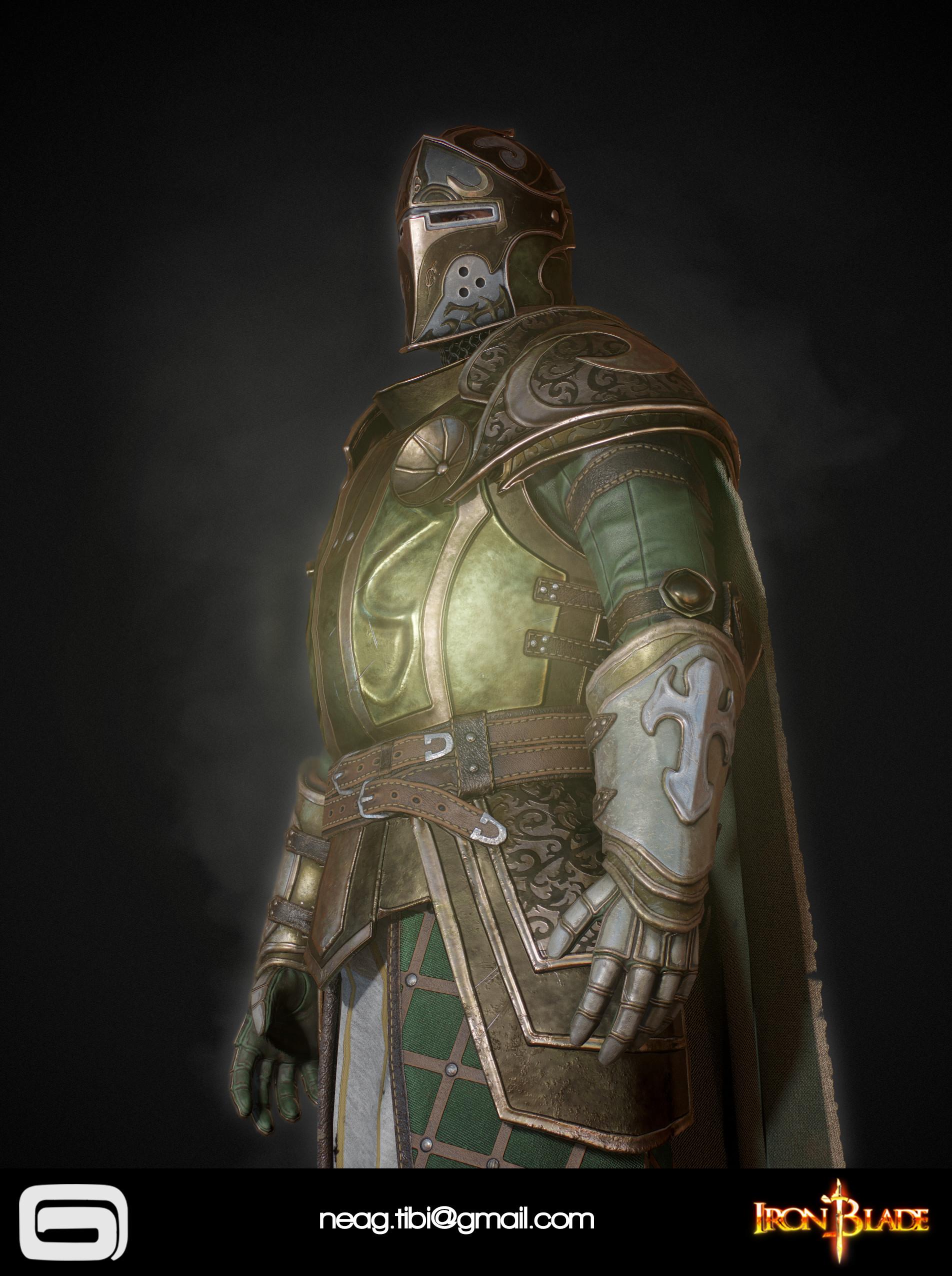 Tibi neag tibi neag iron blade mc armor 14b low poly 04