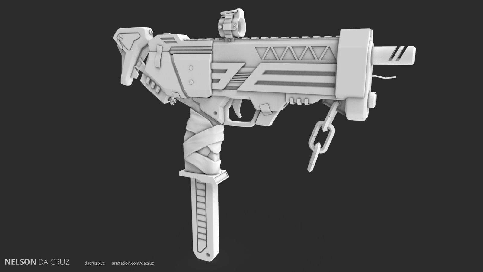 WIP - Overwatch fan art - Sombra weapon
