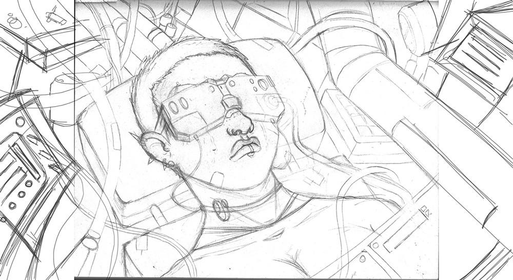 Hector sanchez hector sanchez futuristic girl sketch web