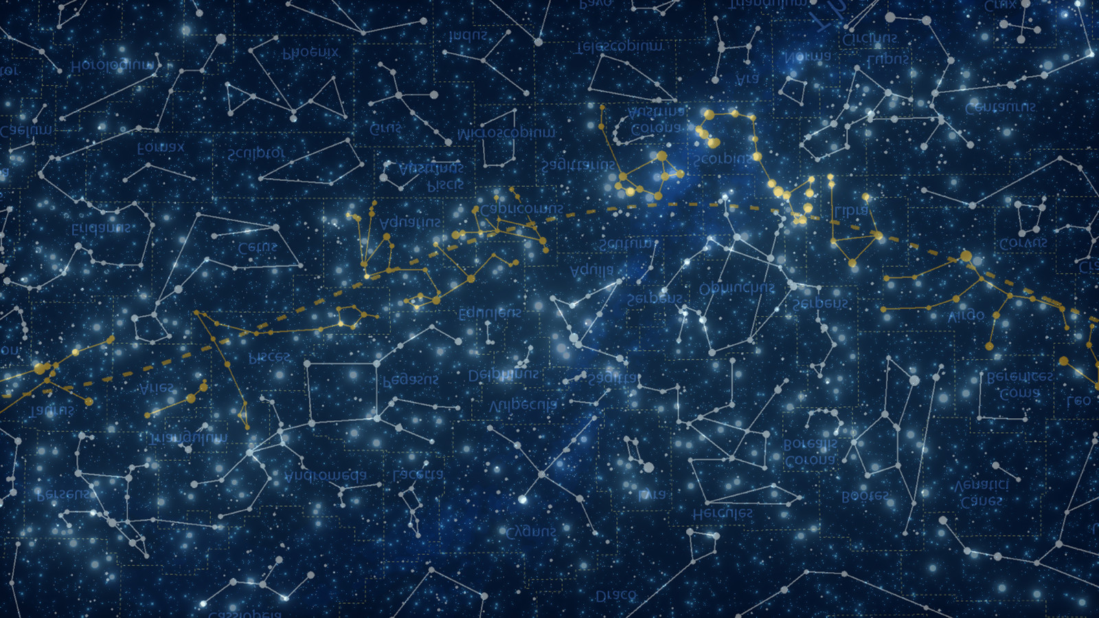 I tried to match the lights from the skies to a real constellation maps. It's turned upside down and some of them are a little bit off, but still, a lot of them are highly recognizables.