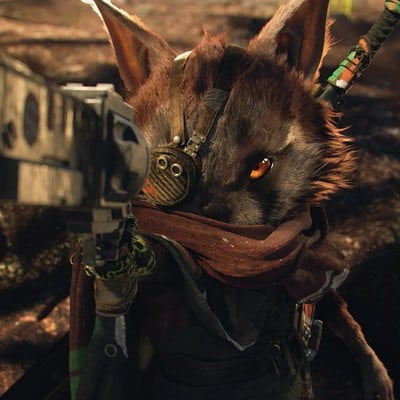 Daniel bystedt zbrush biomutant hero pointing gun