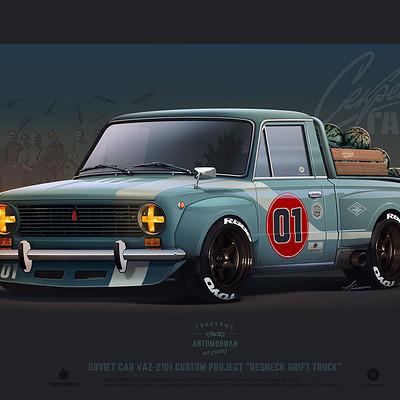 Andrey tkachenko vaz 01 redneck drift truck