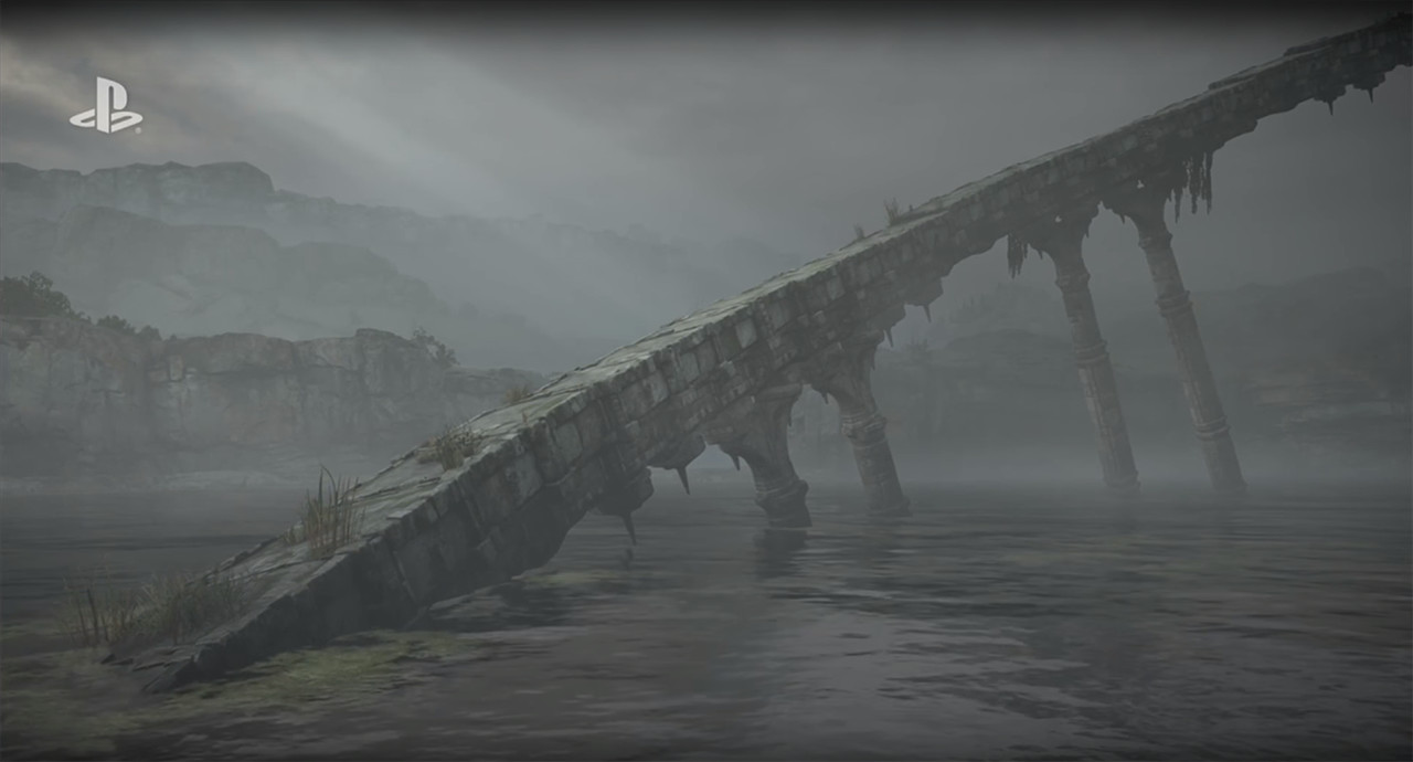 Structure created for the SotC remake. I also did foliage placement. Screenshot taken from the 2017 reveal trailer.