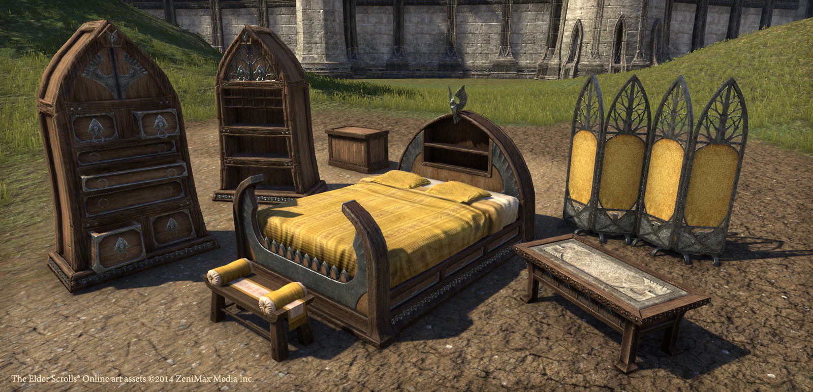 Altmer furniture. Ground texture and background by others.