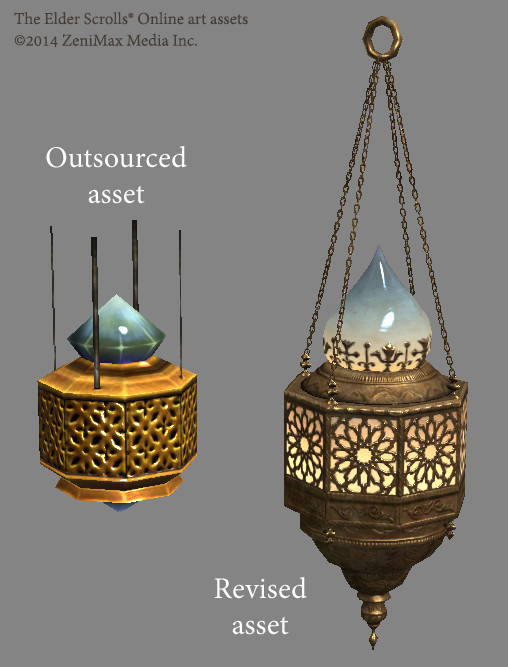 A Redguard lamp made to replace a sub-par outsourced asset