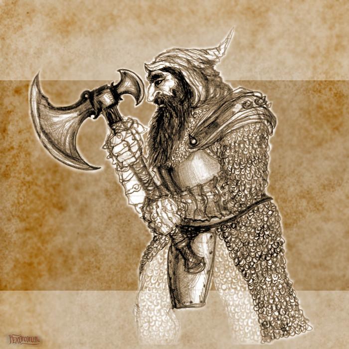 A determined dwarf (pencil)