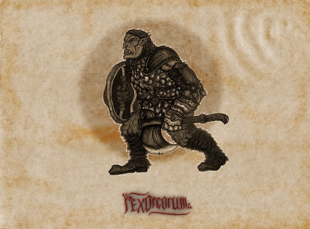 The titular Rex Orcorum :) (ballpoint pen, little present day Ps shading)