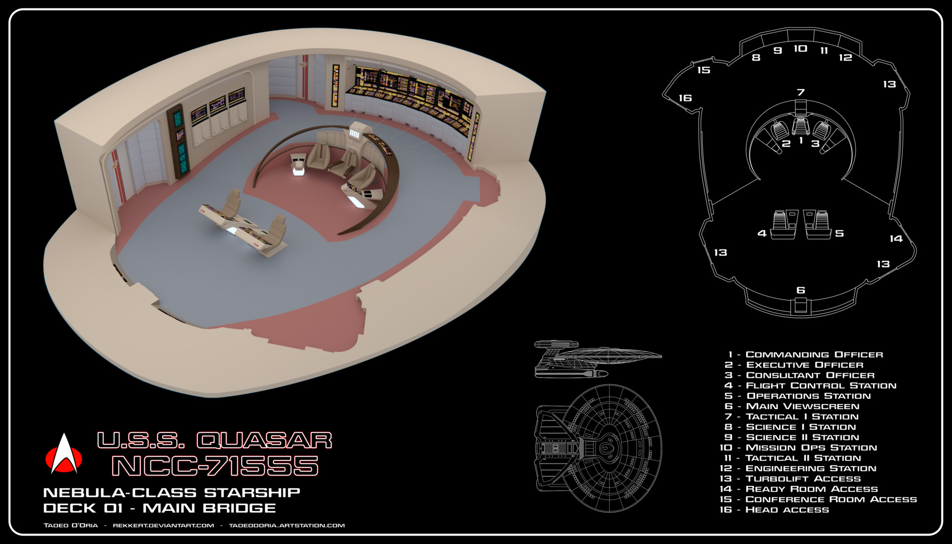 Tadeo d oria uss quasar bridge cutaway