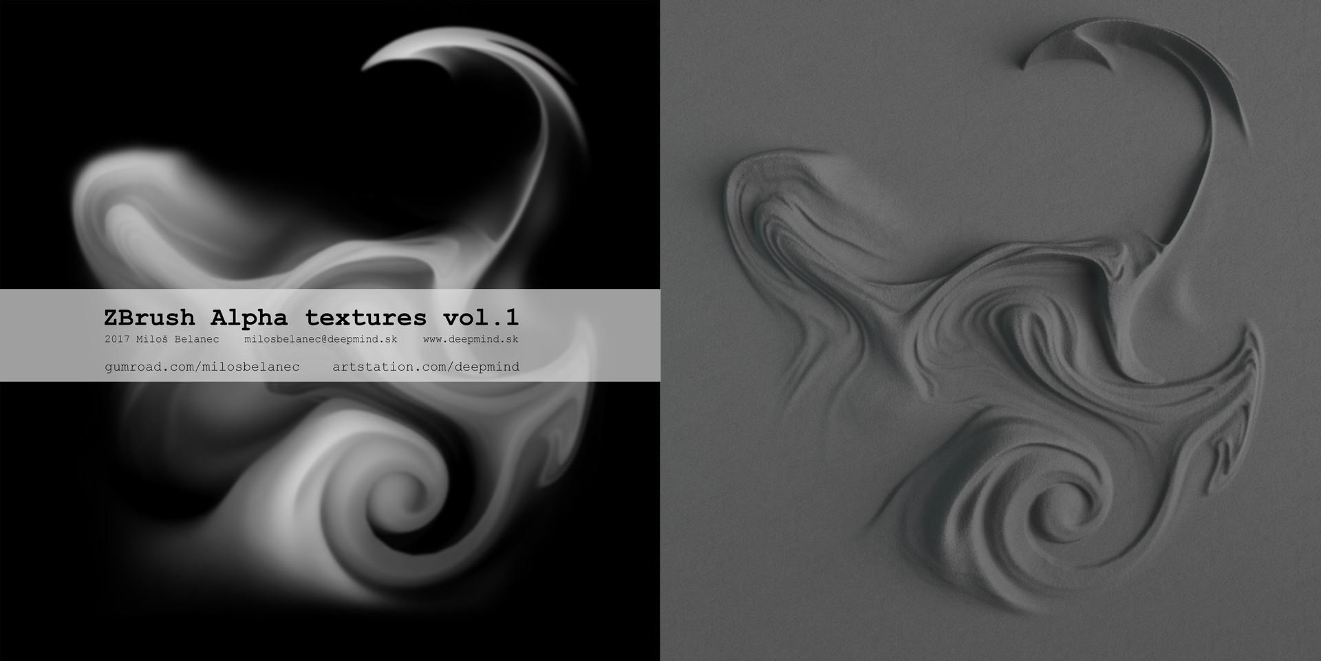 ArtStation - Zbrush Alpha textures VOL 1 by Miloš Belanec , Miloš