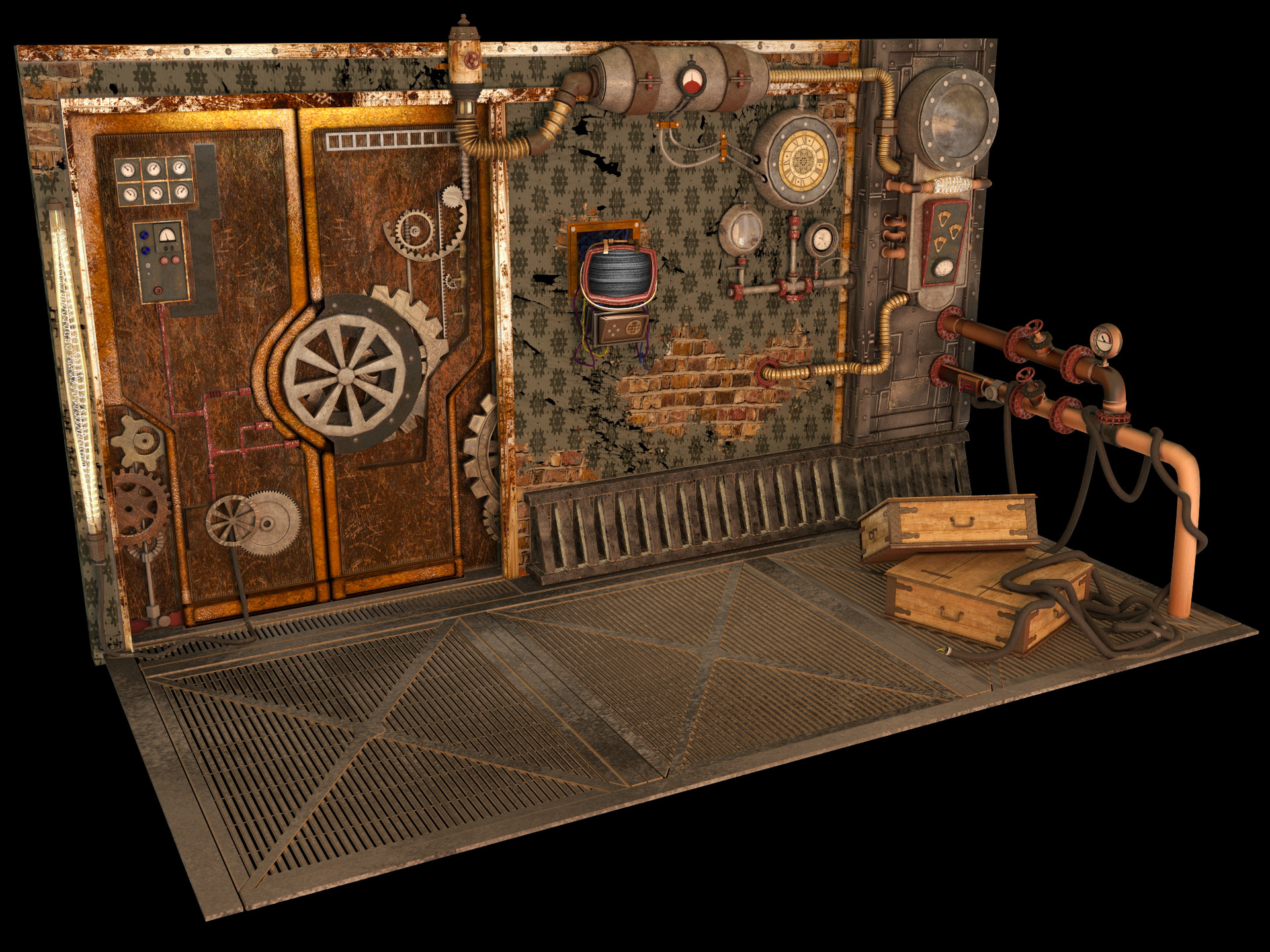Anna troitskaya render1 & Anna Troitskaya - Steampunk Door Section