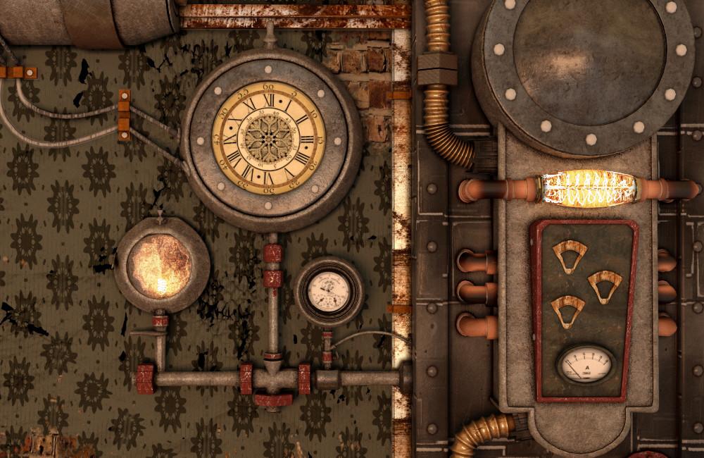 Anna troitskaya render3 & Anna Troitska - Steampunk Door Section