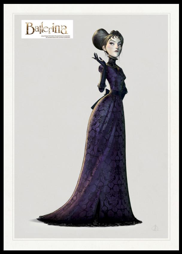 Regine - the Vilain -Character design board