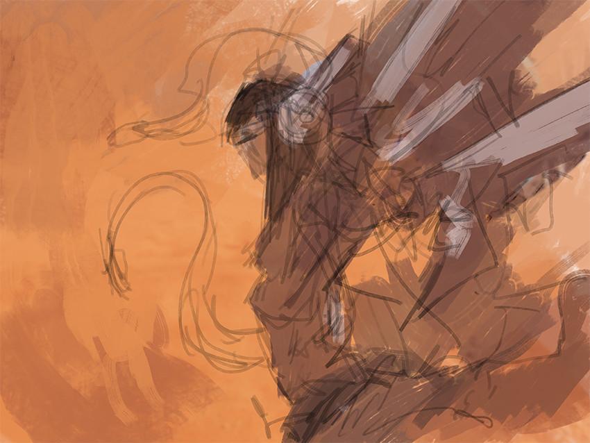 Alexandre chaudret paw illustration desert stepsb
