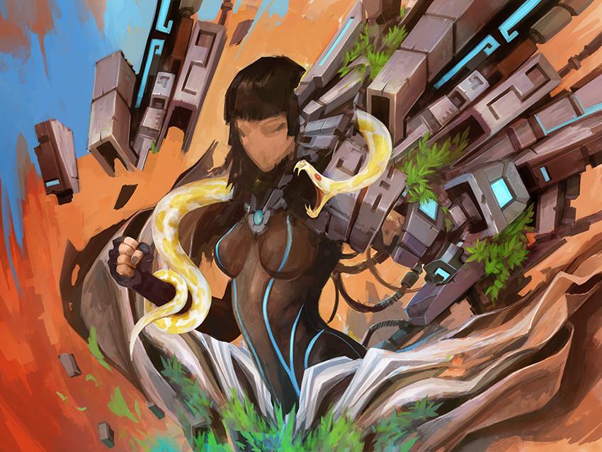 Alexandre chaudret paw illustration desert stepsi