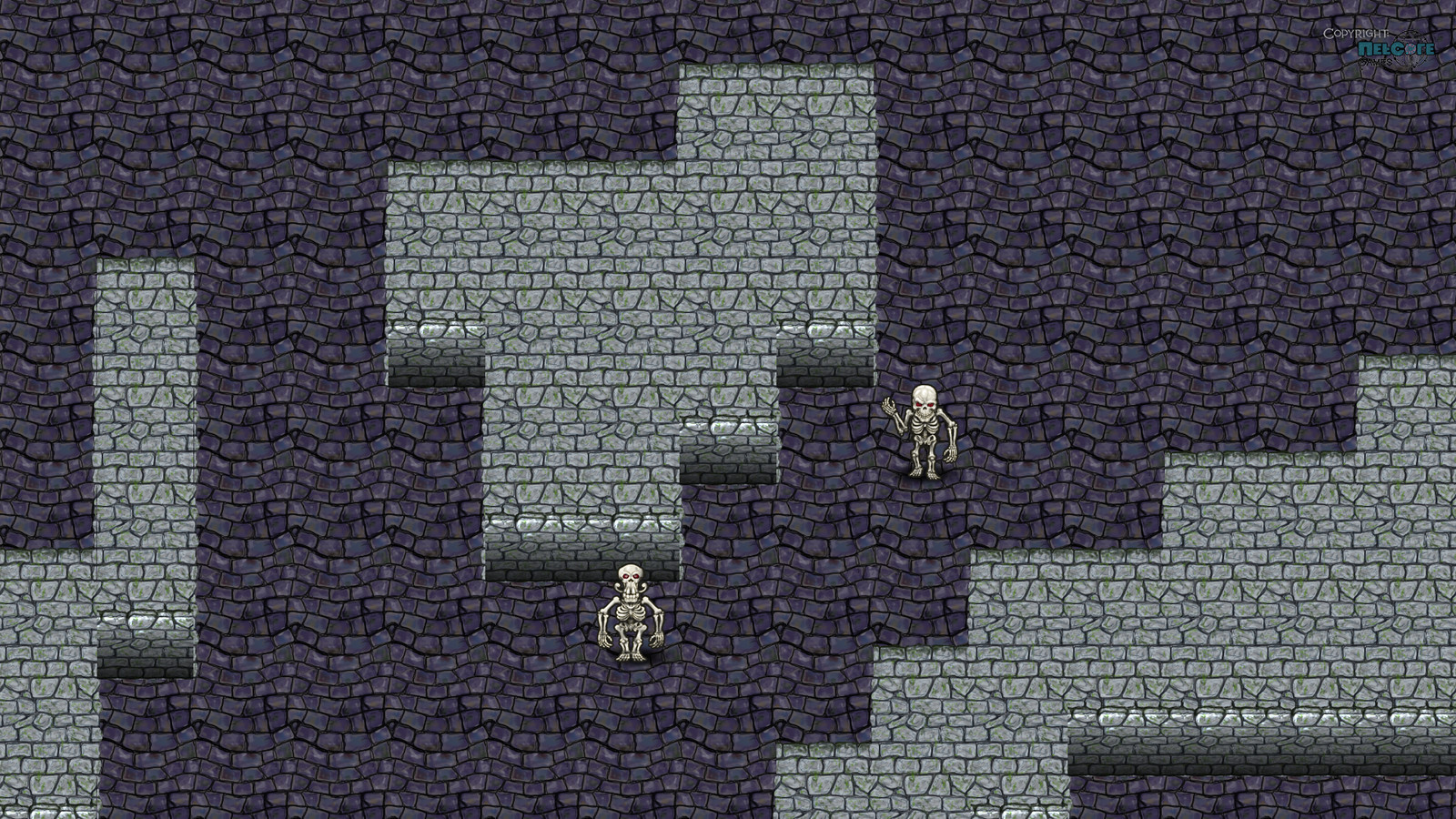 Tiles mockup. In whooping 128x128 resolution! I really like how the floors turned up