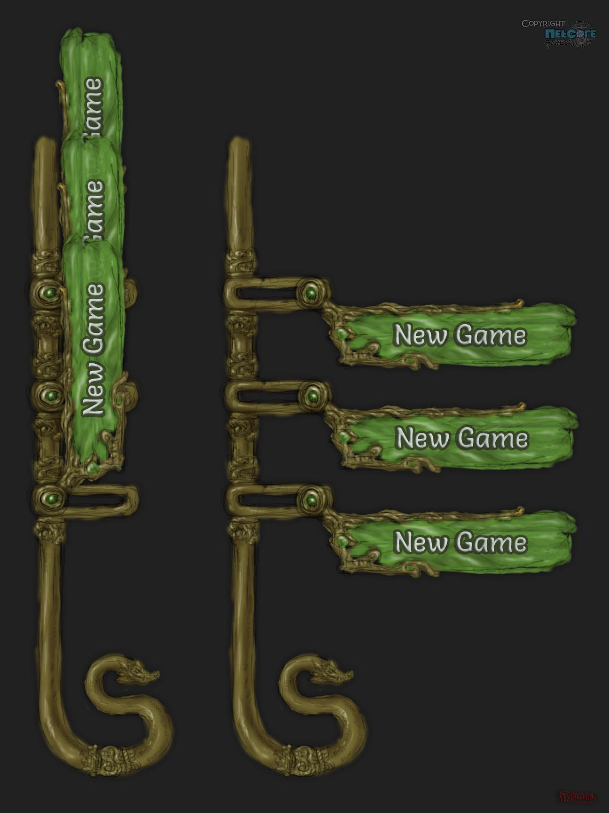 Animated main menu project