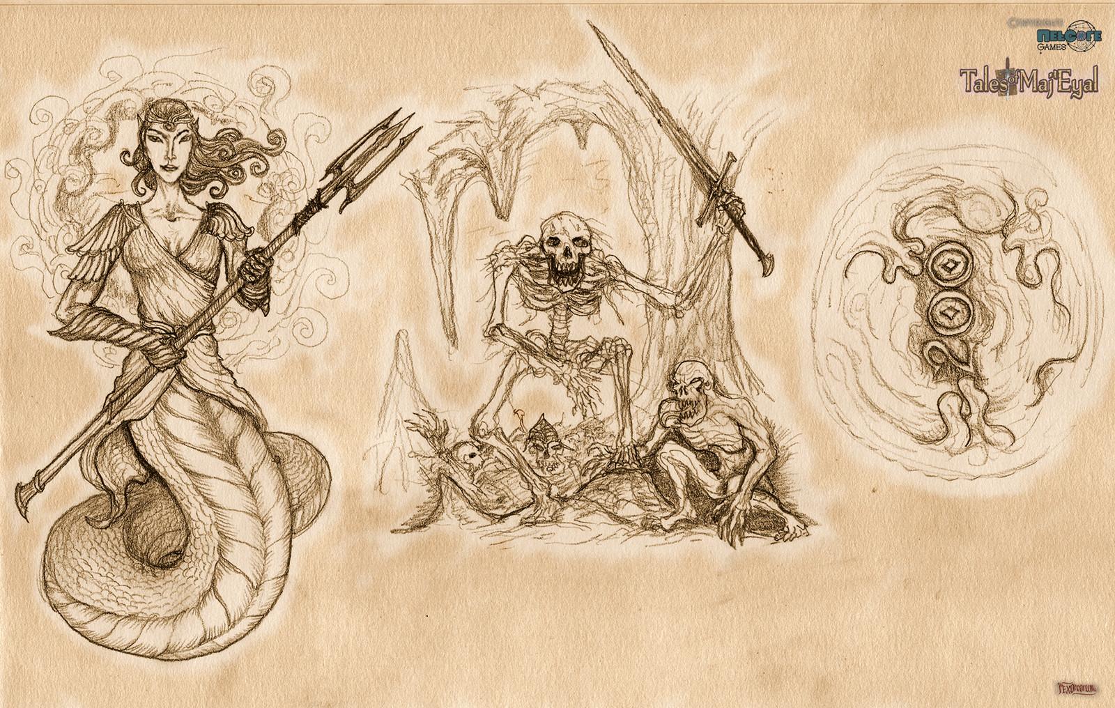 Naga, undeads, 200 slime kills