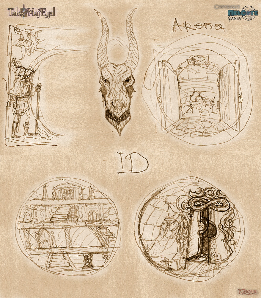 Arena & Infinite Dungeon (ID) Icon concepts