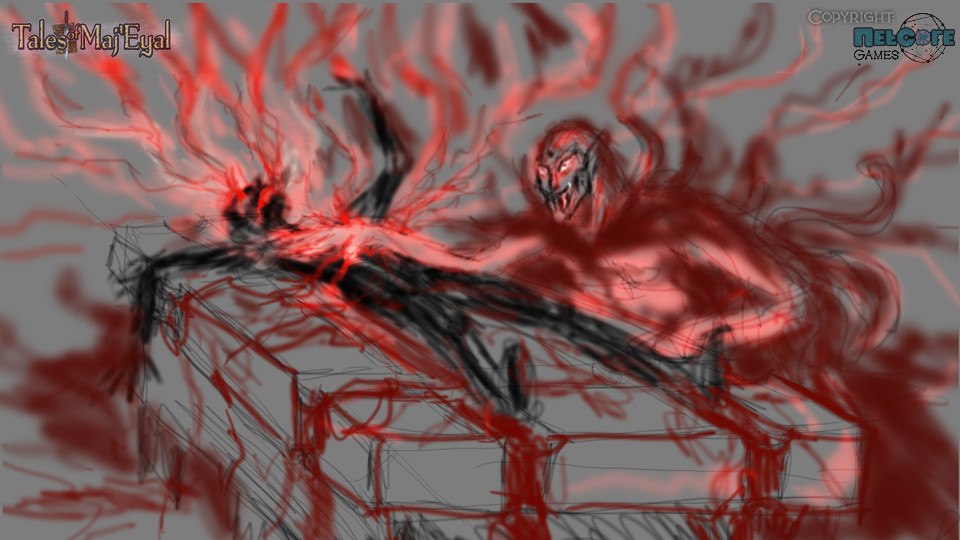 A very rough composition sketch