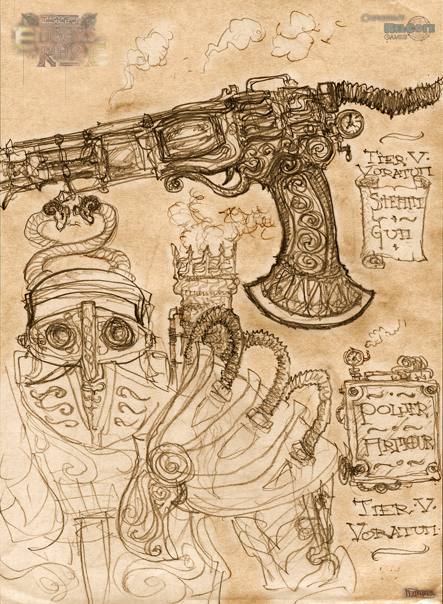 Steam Power armour concept and a steamgun