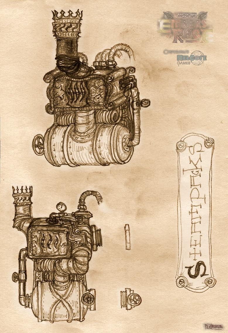 Steampack (generates steam)