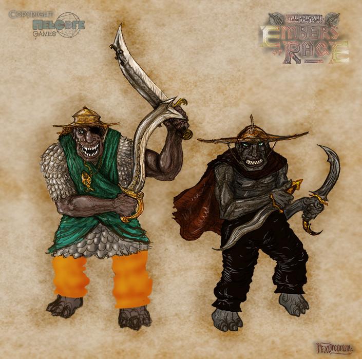 Troll pirates - captain & marauder