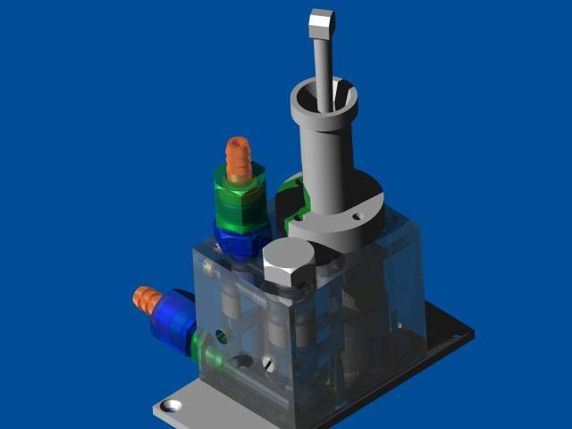 Water pump model for testing