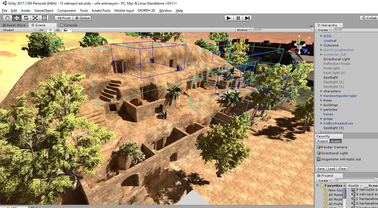 Unity Editor scene
