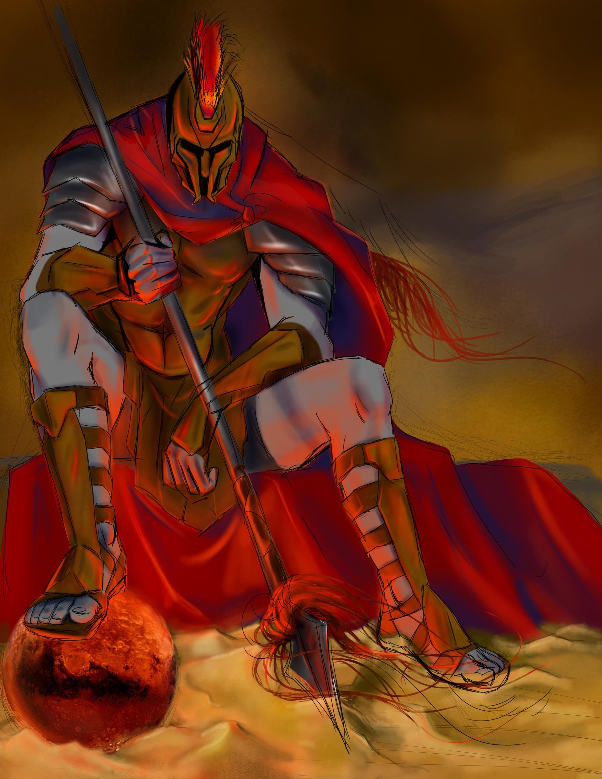BME Artwork - Ares, God of War