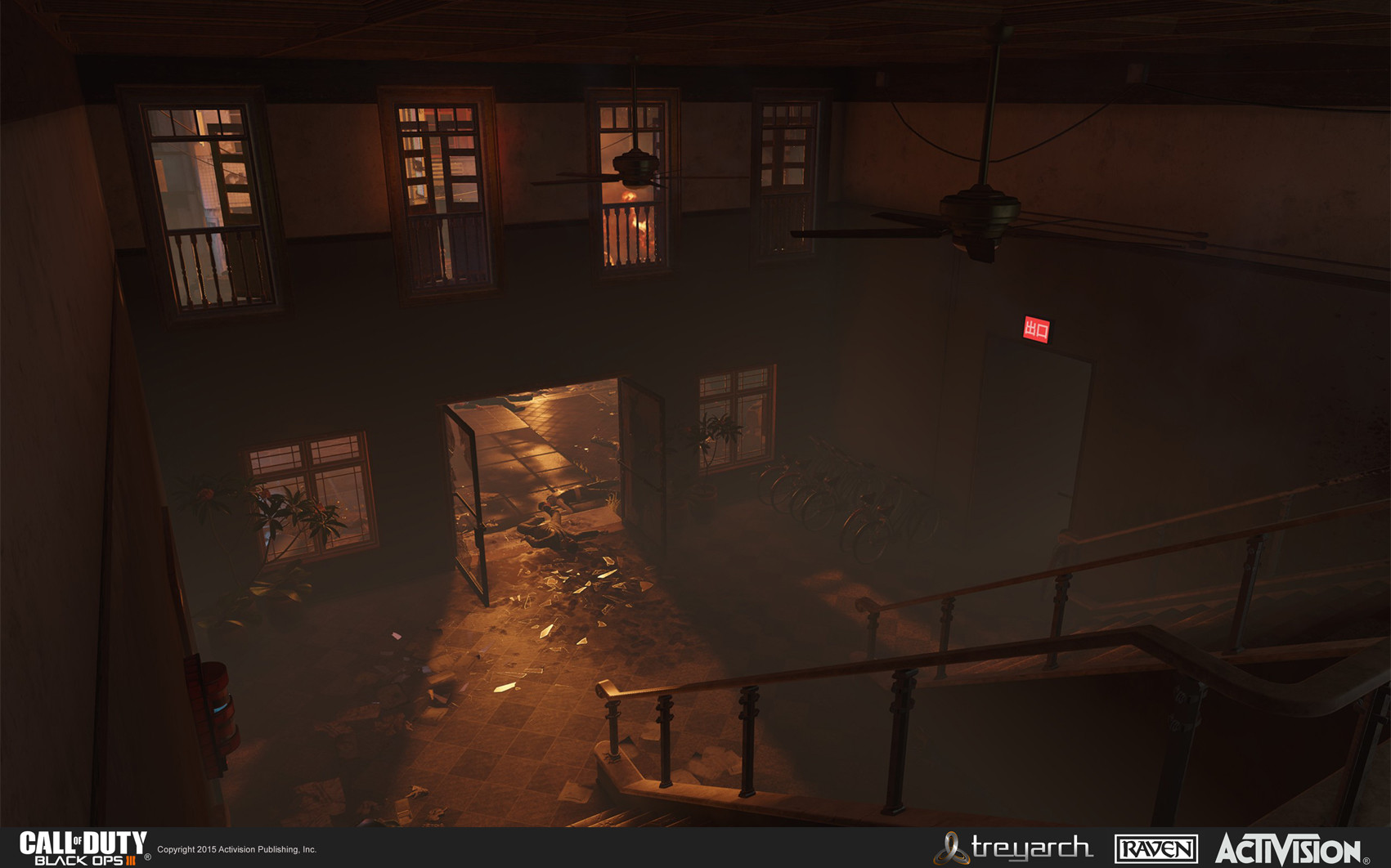 Apartment structure lobby. I was responsible for creating the apartment section of the map from block-in to final.
