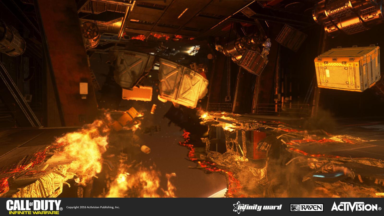 Destroyed ordnance room
