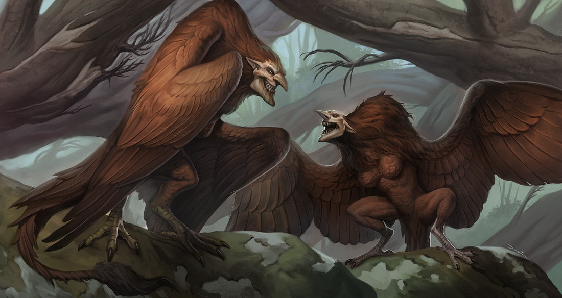 Damien mammoliti e10 damienmammoliti harpies monster